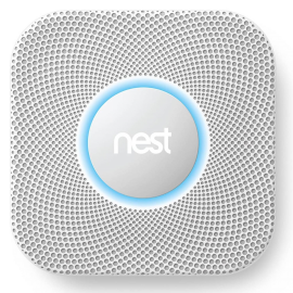 Google Nest Protect S2001LW Smoke and Carbon Monoxide Alarm (Wired 120V) Smart Alarm with Wi-Fi Connectivity - White