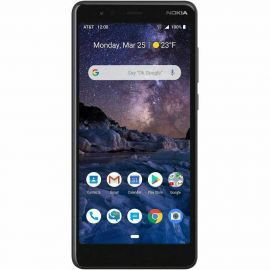MINT Nokia 3.1 A 32GB TA-1140 AT&T 5.45 in IPS LCD Display 2GB RAM 8MP Camera Android One Smartphone - Black/Chrome