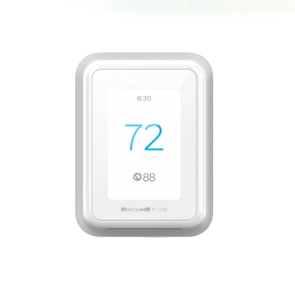 Honeywell Home T9 WiFi Smart Thermostat, Smart Room Sensor Ready, Touchscreen Display, Alexa and Google Assist Without Room Sensor - White