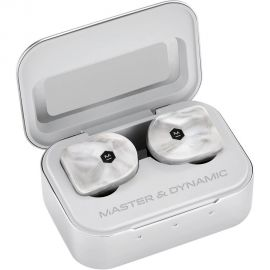 Master & Dynamic MW07  True Wireless Earphones - Noise Cancelling with Mic Bluetooth, Lightweight in-Ear Headphones - White Marble