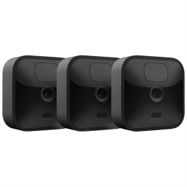 Blink Outdoor 3 Cam Kit Wireless Weather Resistant HD Security Camera with two year Battery Life and Motion Detection - Black