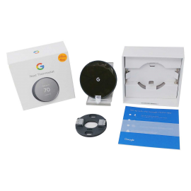 OB Google Nest Thermostat 4th Gen GA02081-US  Programmable Smart Wi-Fi Thermostat for Home - Charcoal - Base Plate Missing