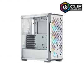 Corsair iCUE 220T RGB Airflow CC-9011174-WW White Steel / Plastic / Tempered Glass ATX Mid Tower Computer Case