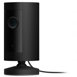 Ring Indoor Cam, Wired Compact Plug-In HD security camera with two-way talk, Works with Alexa 8SN1S9-BEN0 - Black