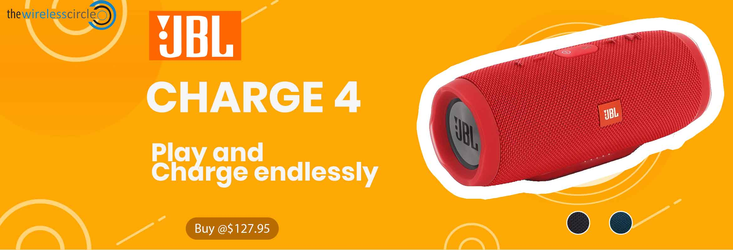 JBL Charge 4 @129.95 + 5% Additional discount.