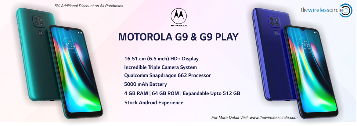 motorola smartphones, moto g9, moto g9 play, additional discount when you add the cart today, the wireless circle