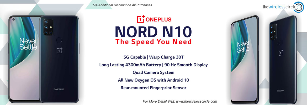 Oneplus Nord N10, OnePlus Nord 128GB, Buy OnePlus Nord N10 Online, 5% Additional Discount