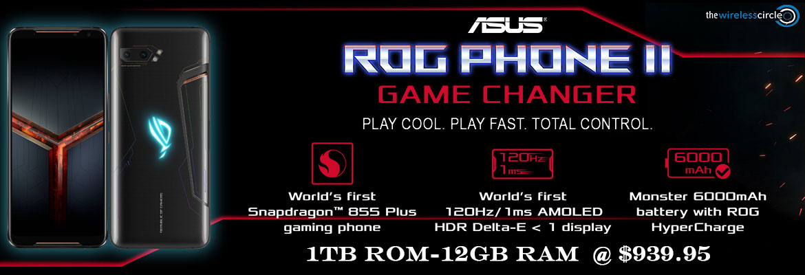 Rog phone II 1TB 12GB @999.95 and 5% Additional Discount